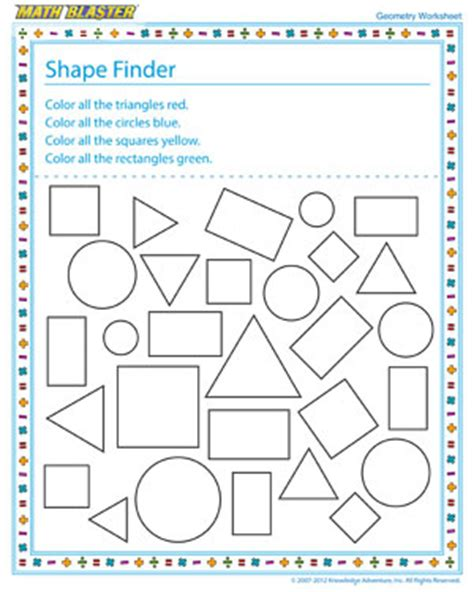 printable shapes for first grade printables geometry fun worksheets agariohi worksheets