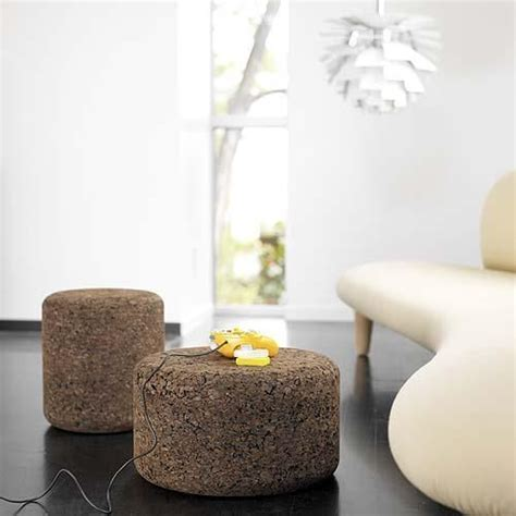 cork ottoman 32 cork furniture and accessories ideas for every home