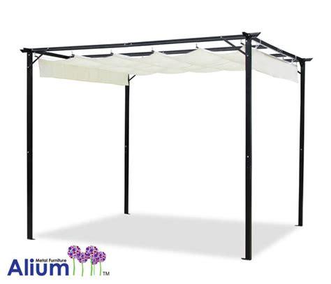 Alium sun canopy metal frame pergola shade gazebo garden structure patio awning ebay