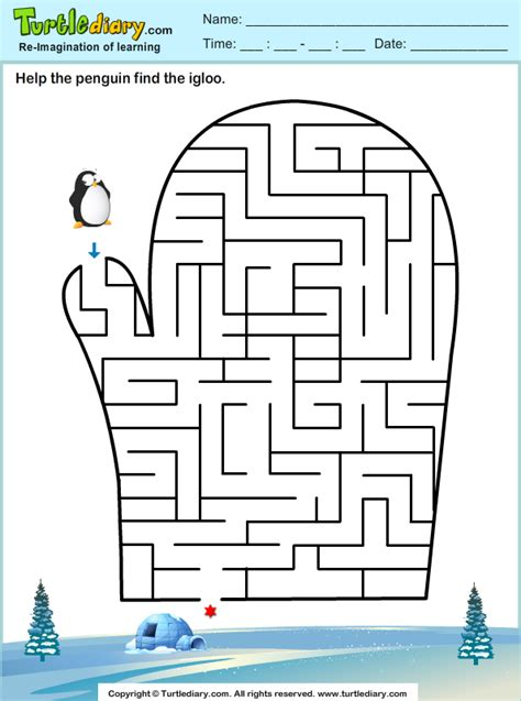 printable snowflake maze winter maze worksheets preschool winter best free