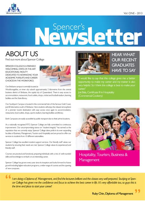 College Newsletter Newsletter Design For Karl Dudwal By Designer Design 1771801