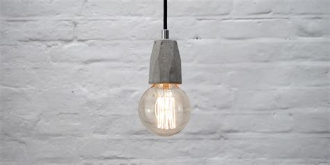 Pendant Light Fittings Uk Concrete Bare Bulb Pendant Light Fitting Design