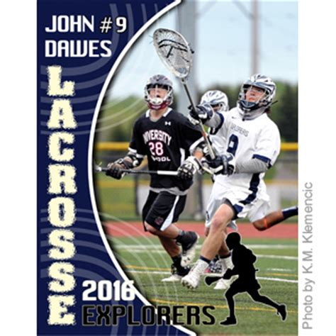 lacrosse player card template lacrosse book design templates sports program printing