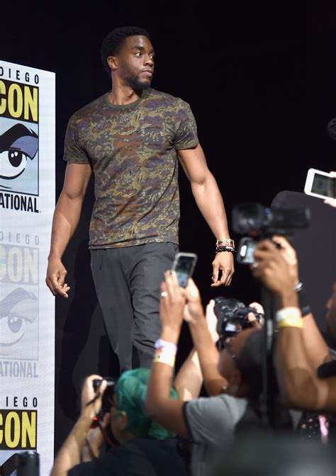letitia wright chadwick the cast of black panther invade comic con talking with tami