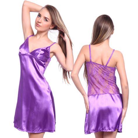 Original Hm Soft Lace Sleepwear womens silk satin nighties sleeve nightwear