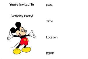 free printable mickey mouse invitation archives