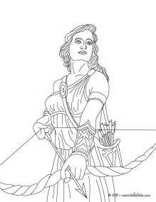 artemis colors artemis the goddess of coloring pages