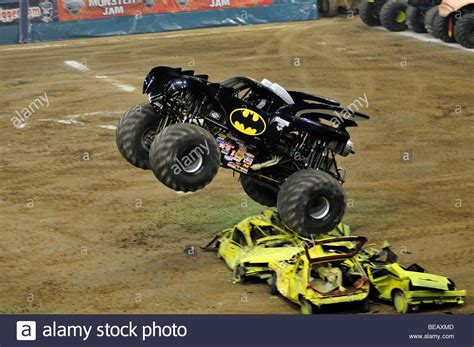 batman monster jam truck monster jam batman with john seasock driver stock photo