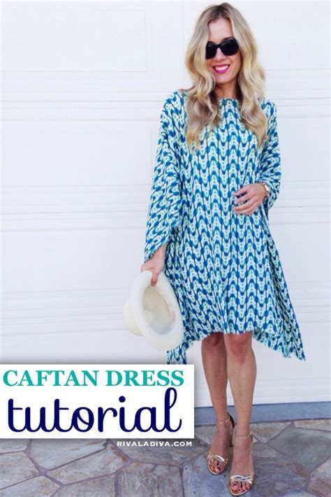 simple gown pattern summer dress pattern easy caftan tutorial handmade
