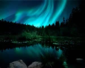 Christmas Light Bedroom Decor - northern lights aurora borealis landscape photograph christmas
