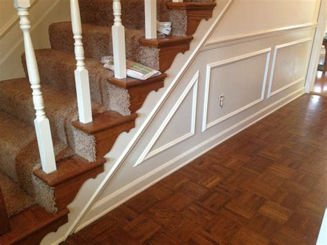 Chair Rail Up Stairs by Diy Wainscoting Do Redo