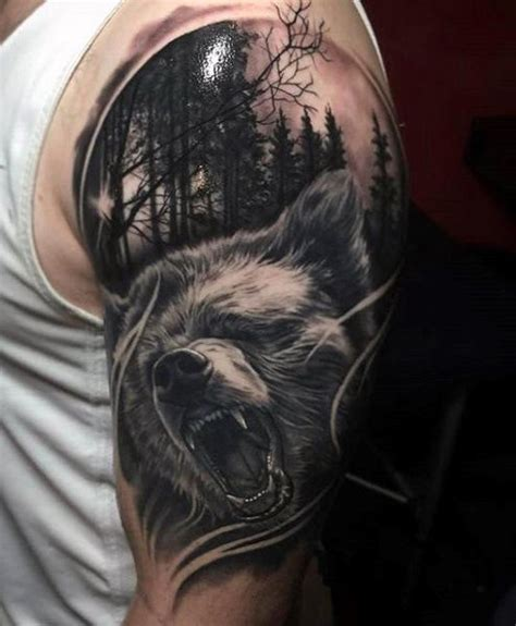 bear tattoo designs for men 60 designs for masculine mauling machine