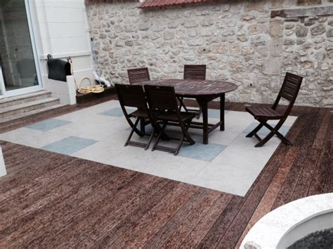 terrasse stein holz kombination stein keramik terrasse mit holz kombiniert bs holzdesign