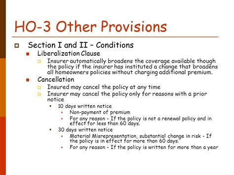 section 2 homeowners policy topic 11 homeowners insurance ppt download