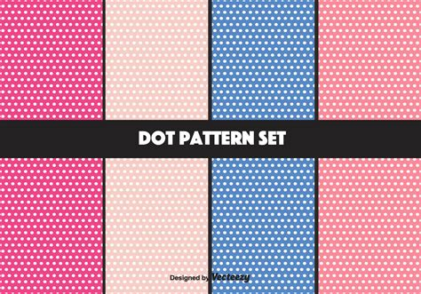 dot pattern system sewing girly vector dot pattern set download free vector art