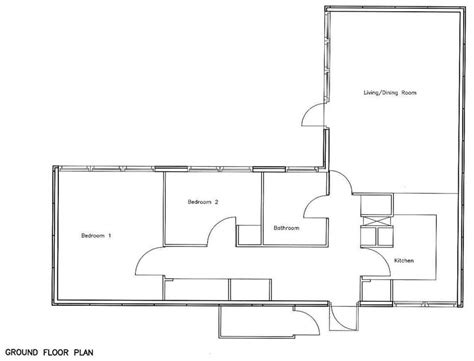 1 bedroom bungalow floor plans bedroom bungalow floor plan house plans 61172