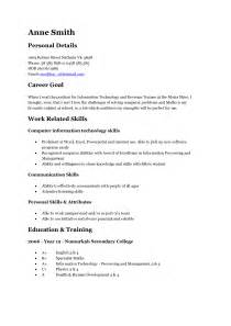 Resume Exles For Teenagers by Resume Exles Berathen