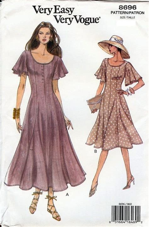 vogue pattern ease very easy very vogue pattern 8696 misses flared dress 6
