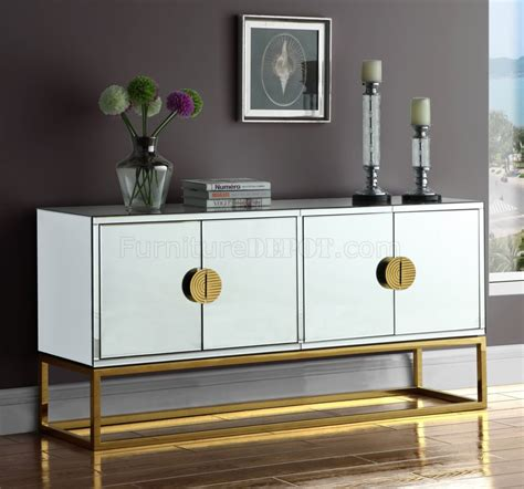 marbella buffet  mirrored  meridian wgold tone base