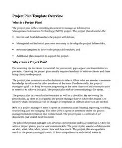 business plan document template sle it project plan template 6 free documents