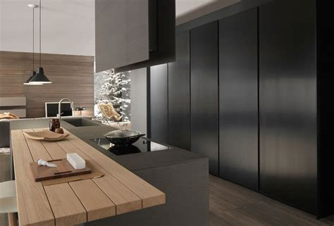 Black Kitchens Designs modulnova blade abitare