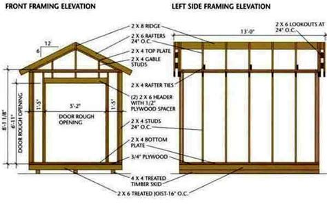 House Framing Plans by 8 215 12 Storage Shed Plans Amp Blueprints For Building A