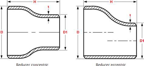 Reduser Tembaga 5 8 X 1 2 Inch 1 dimensions weld reducers con ecc asme b16 9