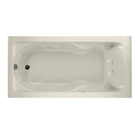 6 ft tub ariel 6 ft whirlpool tub in white am128jdclz the home depot