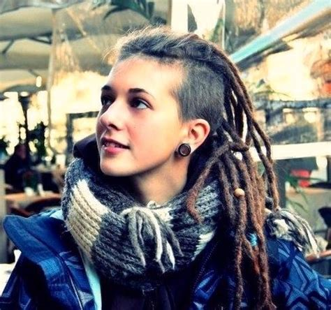 back of head shaved sides dreads girl with dreads dread head pinterest my hair girls