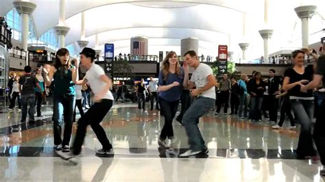 denver swing dancing denver airport swing dance flash mob youtube