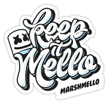 Sticker Stiker Dj Logo Skrillex marshmello keep it mello also buy this artwork on