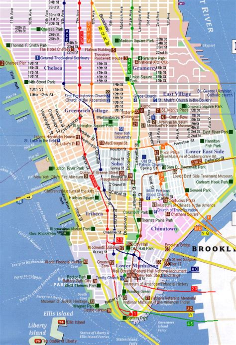 map of nyc with landmarks maps update 7421539 new york city tourist attractions