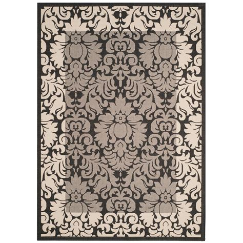 9 ft outdoor rug safavieh courtyard black sand 9 ft x 12 ft indoor outdoor area rug cy2727 3908 9 the home depot