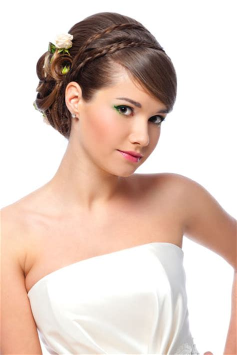 Wedding Hairstyles With Bangs And Braids by Wedding Hairstyles With Braids And Bangs Elite Wedding Looks