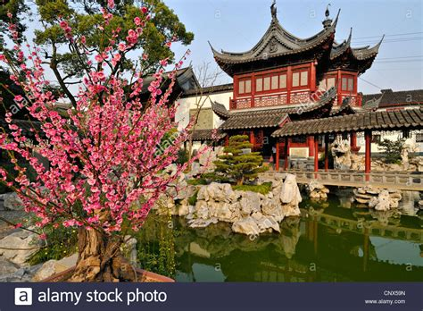 ancient chinese house picture yu yuan gardens shanghai traditional chinese gardens and red pavillion at yu yuan