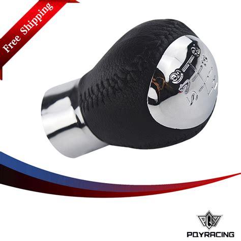 mazda 6 shift knob pqy high quality 6 speed chrome manual leather gear shift