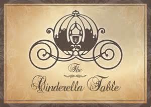 disney fairytale wedding table cards