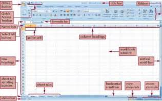 Parts Of An Excel Spreadsheet Microsoft Excel