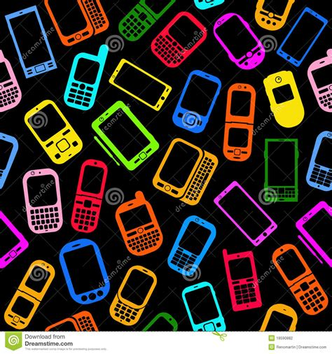 cell phone pattern hacker cellphones and smartphones seamless pattern stock vector