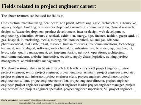 top 5 project engineer cover letter sles