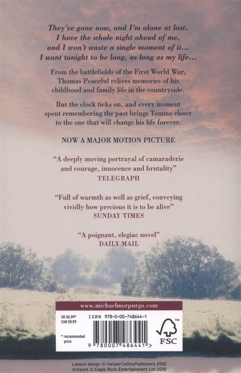 0007486448 private peaceful private peaceful by morpurgo michael 9780007486441