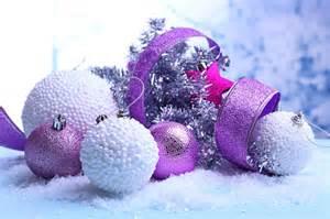 interior design purple christmas decorations on light