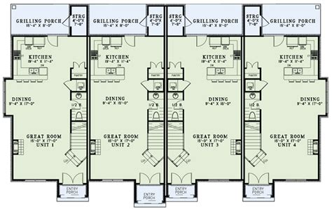 multifamily plans multi family plan 82172 at familyhomeplans com