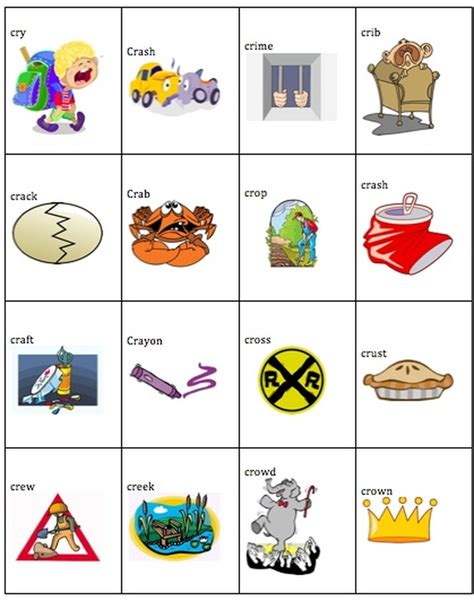 cr words help with speech and language