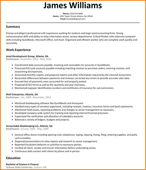 bookkeeper description bookkeeper duties and responsibilities resume