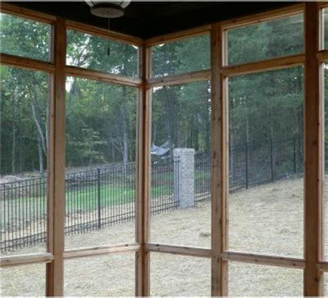 attaching patio porch screen panels with stops