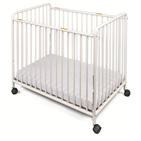 Foundation Cribs by Foundations Chelsea Compact Steel Non Folding Slatted