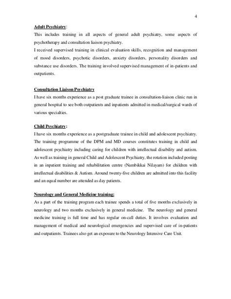 exle curriculum vitae psychiatrist shyam cv