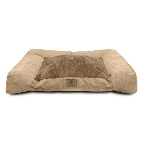 memory foam pet bed american kennel club deluxe extra large tan memory foam