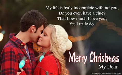 cute merry christmas wishes  boyfriend girlfriend romantic love msg